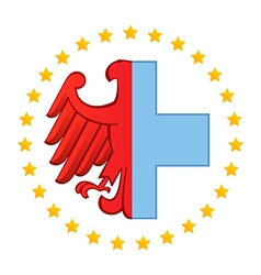 Germany eagle and Medical logo icon design vector