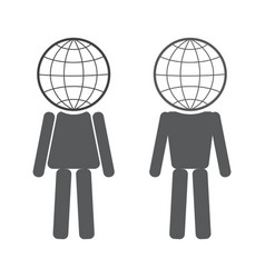 Globe in the form of people vector