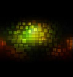 Green brown yellow black glowing various tiles vector