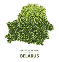 Green leaf map belarus a vector