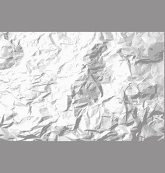 grunge crumpled paper background vector image