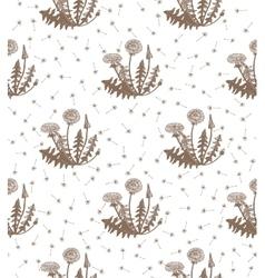 Hand drawn dandelion background vector