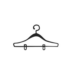 hand drawn icon hanger vector image
