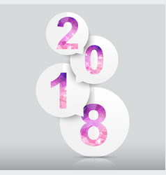 happy new year 2018 background polygon number vector image