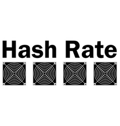 Hash rate of blockchain network with asic vector