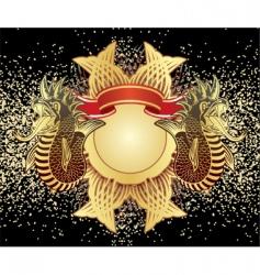 heraldic sign with fish crock vector image