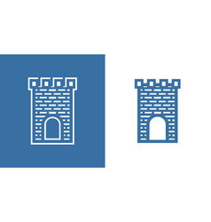 Icon of medieval scotland castle european vector