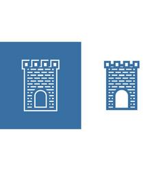 icon of medieval scotland castle european vector image
