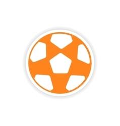 Icon sticker realistic design on paper football vector