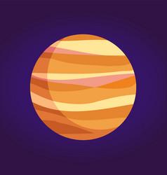 Jupiter giant planet gases from solar system vector