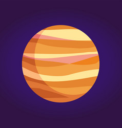 Jupiter giant planet of gases from solar system vector