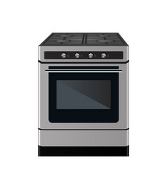 kitchen gas stove vector image