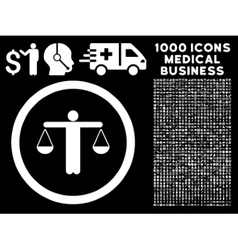 Lawyer rounded icon with medical bonus vector