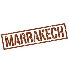 Marrakech brown square stamp vector