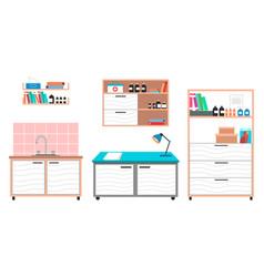 Medical examination or medical check up interior vector