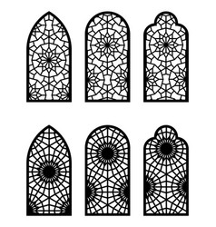 Moroccan arch window or door set cnc pattern vector