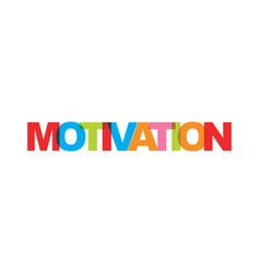 Motivation business card text modern lettering vector