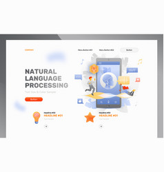 Natural language processing template vector