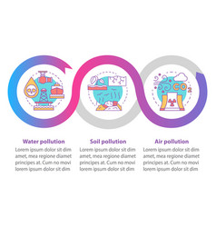 Pollution infographic template business vector