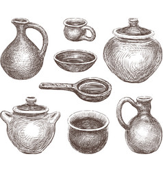 Pottery vector