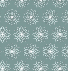 Retro Silver Flower Pattern on Pastel Color vector image