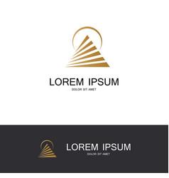 round pyramid company logo vector image