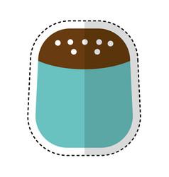 salt bottle kitchen utensil isolated icon vector image