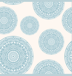 seamless pattern with curly circles pastel colours vector image