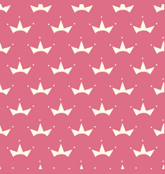 Seamless pattern with hand drawn cute crown vector
