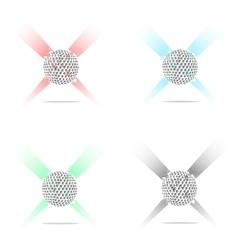 Set abstract golf balls of ink blots vector