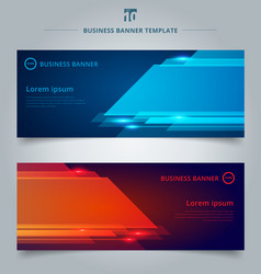 set abstract template technology web banner vector image