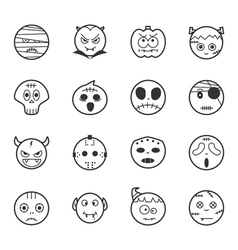 set halloween icons eps10 format vector image