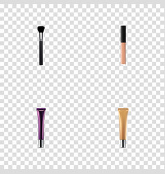 set of greasepaint realistic symbols with collagen vector image