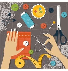 Sewing Flat vector image