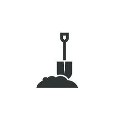 shovel icon simple gardening element symbol vector image