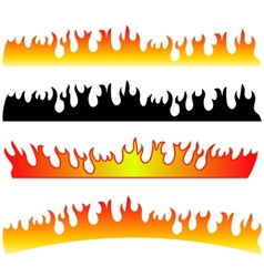 Silhouettes of Fire vector
