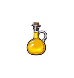 Sketch olive oil logo icon isolated vector