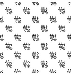 Smart energy plug pattern seamless vector