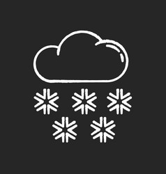 Snow chalk white icon on black background vector