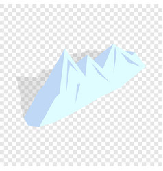 Snowy mountains isometric icon vector