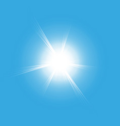 sun isolated on blue background vector image