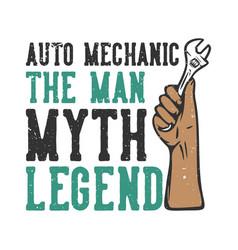 t-shirt design slogan typography auto mechanic vector image