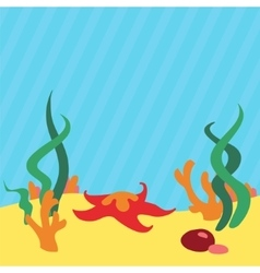 Underwater landscape background with place vector