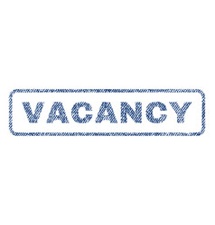 vacancy textile stamp vector image