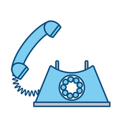 Vintage telephone communication vector