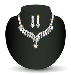 wedding silver necklace woman vector image