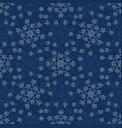 Winter snowflake texture seamless pattern vector
