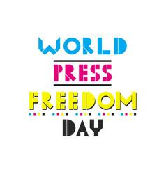 World press freedom day vector