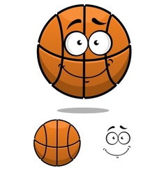 Basketball ball character with a cute face vector