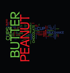 Best recipes peanut butter cup milkshake text vector